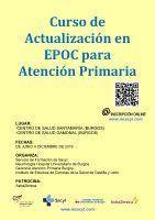 Cartel Curso de Actualización en EPOC para Atención Primaria.