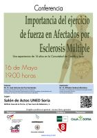 Cartel Conferencia: Importancia del ejercicio de fuerza en Afectados por Esclerosis Múltiple.