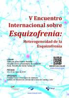 Cartel V Encuentro Internacional sobre Esquizofrenia.