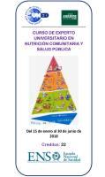 Cartel Curso de Experto Universitario en Nutrición Comunitaria y Salud Pública.