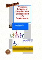 Cartel Diploma de Especialización en Atención Integral a Personas con Discapacidad y/o Dependencia. Título Propio de la Universidad de Salamanca.