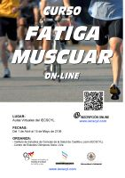 Cartel Curso de Fatiga Muscular.