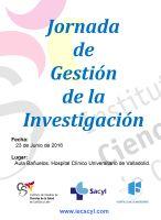 Cartel Jornada de Gestión de la Investigación.