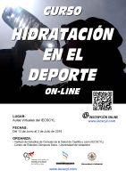 Cartel Curso de Hidratación en el Deporte.