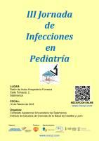 Cartel III Jornada de Infecciones en Pediatría.