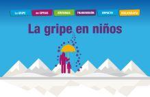 Cartel Información sobre la gripe en niños