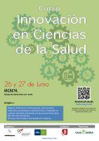 Cartel Curso de Innovación en Ciencias de la Salud.