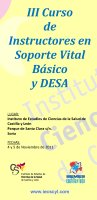 Cartel  Curso Instructores Soporte Vital Básico + DESA 3