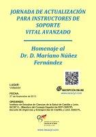 Cartel Jornada Actualización Instructores SVA. Homenaje al Dr. Mariano Núñez Fernández.