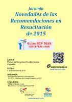 Cartel Jornada Novedades de las Recomendaciones en Resucitación de 2015.