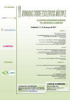 Cartel II Jornadas sobre Esclerosis Múltiple.