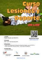 Cartel Curso Lesiones y Deporte.