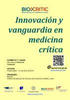 Cartel Innovación y Vanguardia en Medicina Crítica.