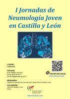 Cartel I Jornadas de Neumología Joven en Castilla y León.