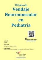 Cartel II Curso de Vendaje Neuromuscular en Pediatría.
