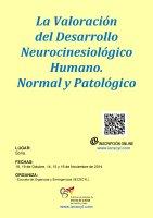 Cartel La Valoración del Desarrollo Neurocinesiológico Humano. Normal y Patológico.