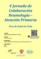 Cartel V Jornada de Colaboración Neumología Atención Primaria.