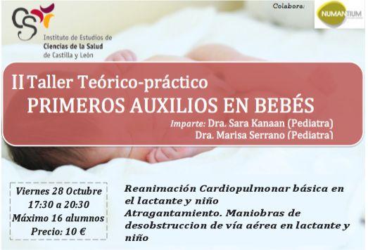 Cartel II Taller Teórico-práctico Primeros Auxilios en Bebés.