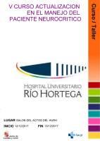 Cartel V Curso Actualización en el Manejo del Paciente Neurocrítico.
