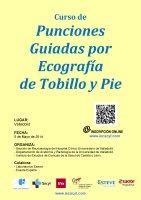 Cartel Curso de Punciones Guiadas por Ecografía de Tobillo y Pie.