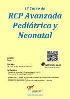 Cartel IV Curso de RCP Avanzada Pediátrica y Neonatal.