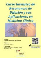 Cartel Curso Intensivo de Resonancia de Difusión y sus Aplicaciones en Medicina Clínica.
