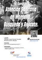 Cartel XI Curso de Atención Sanitaria en Montaña. Búsqueda y Rescate.