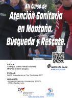 Cartel XII Curso de Atención Sanitaria en Montaña. Búsqueda y Rescate.