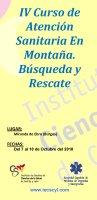 Cartel IV Curso de Atención Sanitaria en Montaña. Búsqueda y Rescate