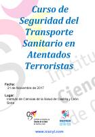 Cartel Curso de Seguridad del Transporte Sanitario en Atentados Terroristas.