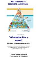 Cartel XIII Jornadas de Seguridad Alimentaria: Alimentación y Salud.