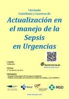 Cartel I Jornada Castellano y Leonesa de Actualización en el manejo de la sepsis grave en urgencias.