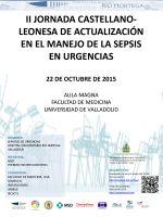 Cartel II Jornada Castellano-Leonesa de Actualización en el Manejo de la Sepsis en Urgencias.