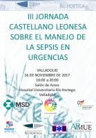 Cartel III Jornada Castellano-Leonesa de Actualización en el Manejo de la Sepsis en Urgencias.