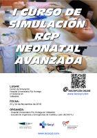 Cartel I Curso de Simulación RCP Neonatal Avanzada.