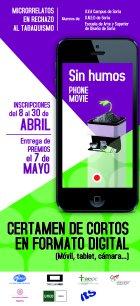 Cartel Sin Humos Phonemovie - Certamen de cortos en formato digital