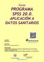 Cartel Curso Programa SPSS 20.0. Aplicación a Datos Sanitarios.