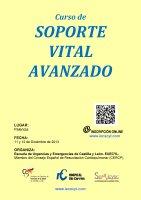 Cartel Curso de Soporte Vital Avanzado.
