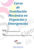 Cartel Curso de Ventilación Mecánica en Urgencias y Emergencias.