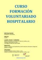 Cartel Curso Formación Voluntariado Hospitalario.