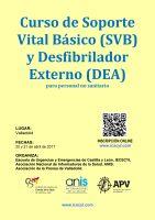 Cartel Curso de Soporte Vital Básico y DEA para Periodistas.