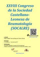 Cartel Curso Nuevos Avances en Reumatología 2017 - XXVIII Congreso de la Sociedad Castellano-Leonesa de Reumatología (SOCALRE).