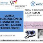 Cartel Curso Actualización en el Manejo del Paciente Agudo Cardiológico