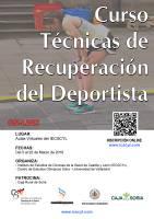 Cartel Cuso Técnicas de Recuperación del Deportista