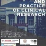 Cartel Máster Principles and Practice of Clinical Research