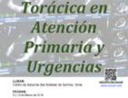 Curso de Ecografía Torácica en Atención Primaria y Urgencias