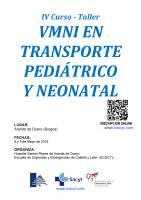 Cartel VMNI Trasporte Pediátrico y Neonatal