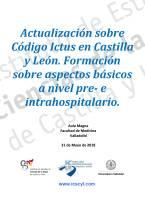 Actualización sobre Código Ictus en Castilla y León 2018