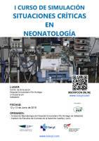 Cartel I Curso de Simulación Situaciones Críticas en Neonatología