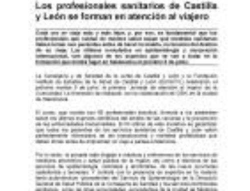 Los profesionales sanitarios de Castilla y León se forman en atención al viajero.